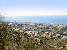 View from Rincon de la Victoria in direction of Torre del Mar and Nerja